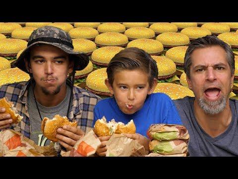 OMG How Did He Eat That?! 10 Whopper Challenge | Josh Darnit