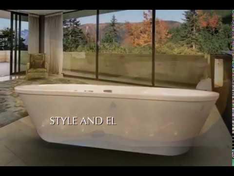 618297fe54e75 KONSTA - FREESTANDING WHIRLPOOL BATH by RUBEN DESIGN - YouTube