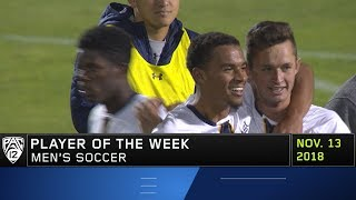 Cal's JJ Foe Nuphaus is named Pac-12 Men's Soccer Player of the Week