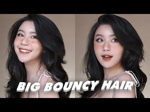 Cách Quấn Tóc Siêu Phồng ,Dưỡng Tóc Dày Và Dài   Voluminous & Bouncy Haircare Routine  Quỳnh Thi 