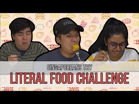 Singaporeans Try: Literal Food Challenge. e.g CARROT+CAKE
