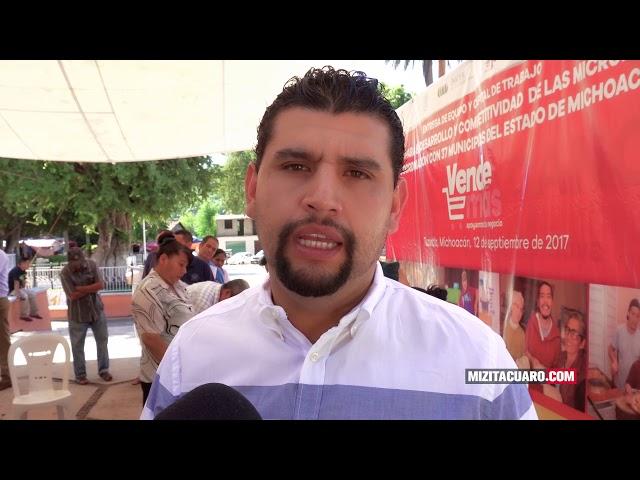 Entregan Apoyos del programa Vende más en Tuzantla