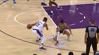 Zach Norvell Jr. Drops Jordan Poole and Lakers Bench Goes Wild | Lakers vs. Warriors NBA Preseason