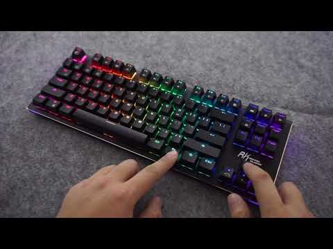 RK G-87 Wireless Bluetooth 3.0 USB Wired Mechanical Gaming Keyboard