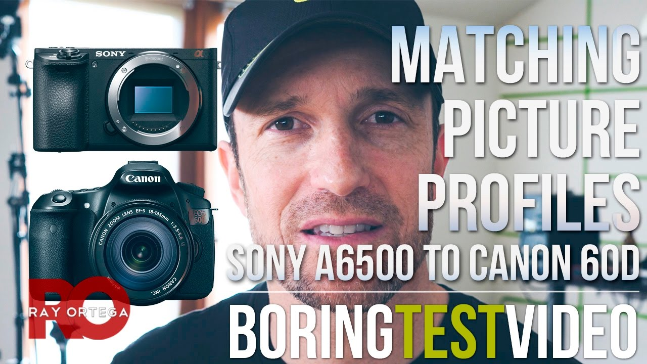 Matching My #Sony a6500 Picture Profile to My #Canon 60D - Boring Test Video