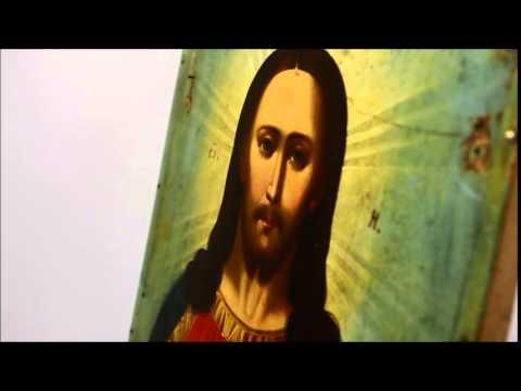 Купить икону в Москве - Старинная икона Спас Державный. D0010 .