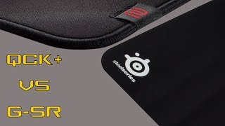 Zowie G-SR VS Steelseries QCK+ - QUICK REVIEW AND COMPARISON - BEST MOUSE PAD FOR CS:GO