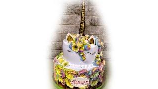 Торт Единорог, 2 яруса.