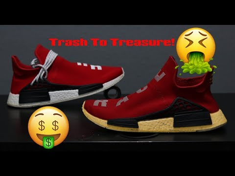 Extremely Trashed $980 Pharrell Human Racers NMD Full Restoration!
