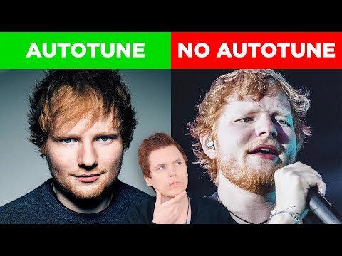 Autotune Vs No Autotune Ed Sheeran Katy Perry & More