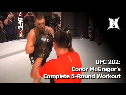 Conor McGregor UFC 202 Training: 5 Rounds + Hardcore Ab Workout (FULL)