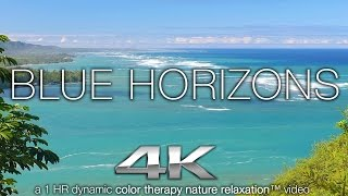 BLUE HORIZONS in 4K | Nature Relaxation™ Color Therapy Healing Music Video