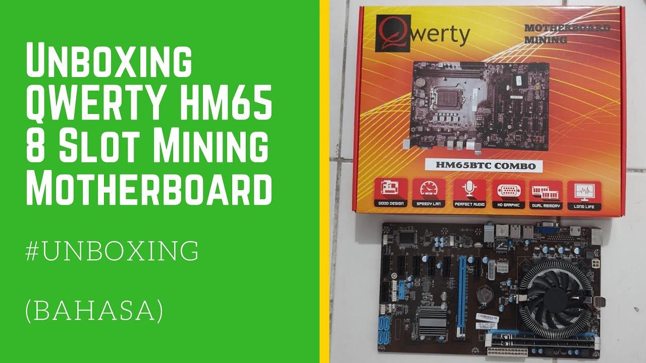 Unboxing QWERTY HM65 BTC 8 Slot PCI-e Mining Motherboard #MiningYUK