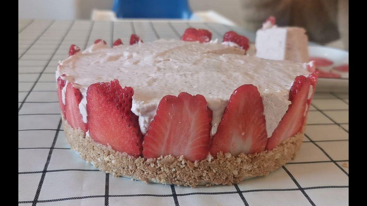 轩妈做的草莓慕斯,还真的做成功了,跟外面卖的口感一模一样