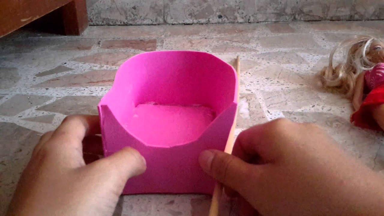 Como hacer una cuna para barbie youtube - Como hacer un cambiador para bebes ...
