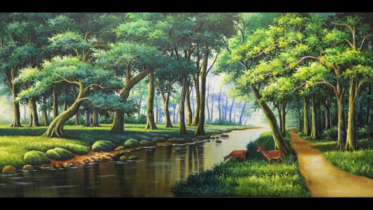 tranh phong cảnh. tranh 3d. tranh tường. acrylic- sơn dầu,. lh đặt hàng :0985099515