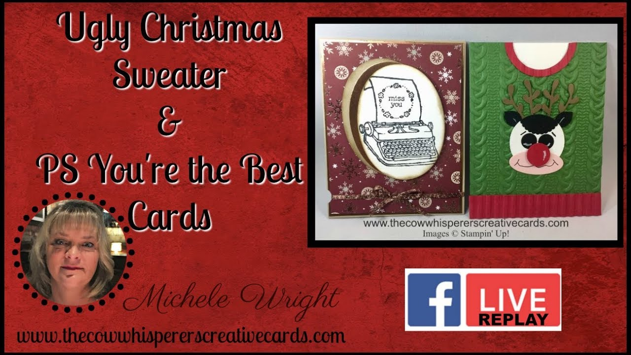 Ugly Christmas Sweater & PS Your\'e the Best Cards - YouTube