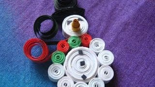Christmas Special Quilled Snowman - Quilling Craft