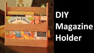 DIY Magazine Holder   Using wood