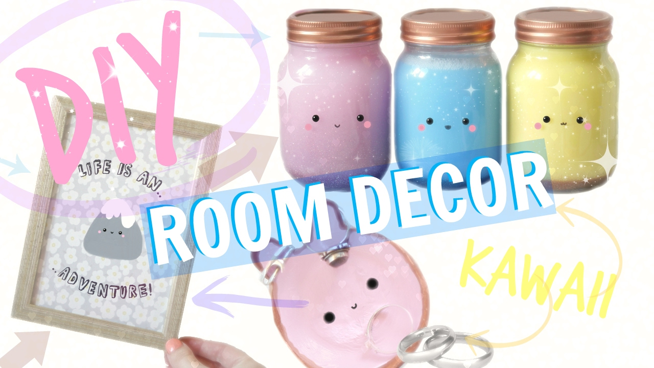 DIY ROOM DECOR - 2017 KAWAII & INEXPENSIVE - YouTube