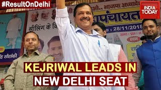 Arvind Kejriwal Takes Early Lead In New Delhi Assembly Seat