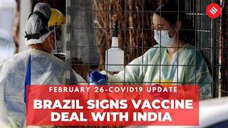 Coronavirus Update Feb 26: India's cumulative COVID-19 vaccination coverage has crossed 1.34 crores