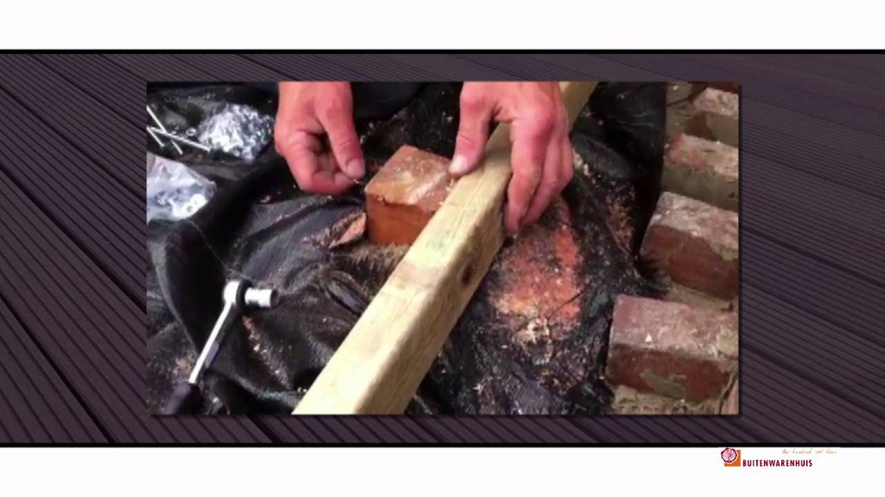 Zelf houten vlonder bouwen youtube - Een verwijderbare partitie maken ...