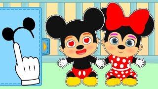 👶 BEBÉS DE MICKEY MOUSE 👶 Gameplay con Mickey y Minnie de Disney| Gameplay y juegos de bebé