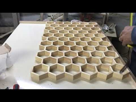 EPOKSİ SEHPA//EPOXY RESIN HONEYCOMB COFFEE TABLE