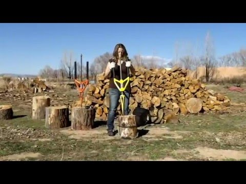 Splitting wood has never been SAFER Safe innovative way to quickly split firewood – Good N Useful