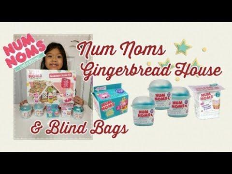 Num Noms Gingerbread House Kit Surprise Blind Bags Unboxing