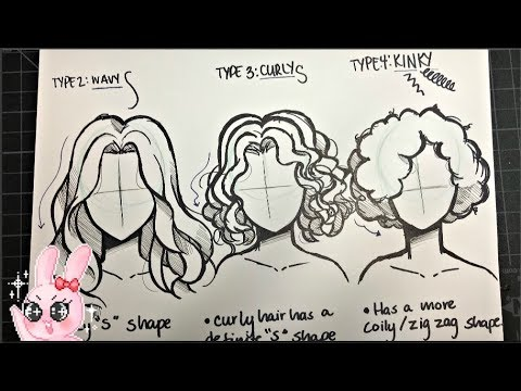 How to Draw Wavy, Curly, and Afro Hair