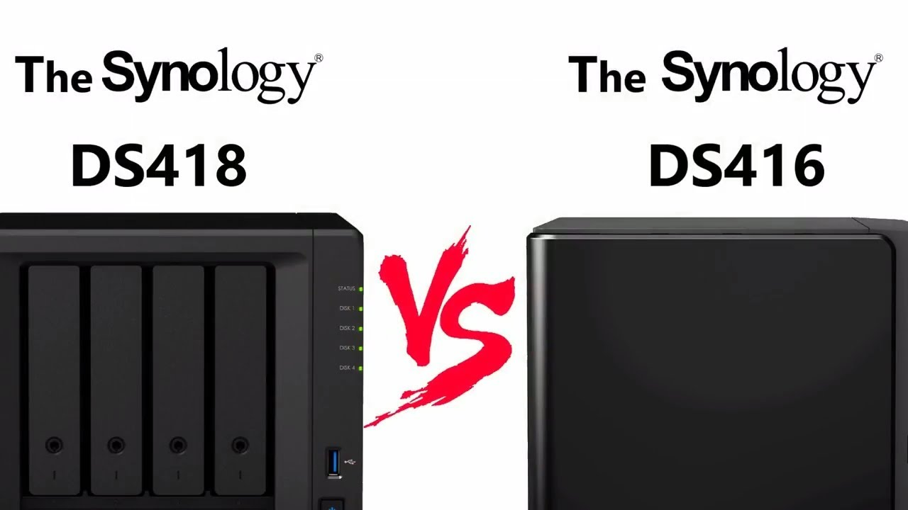 The DS418 NAS versus DS416 - Synology Standard 4-Bay NAS Comparison