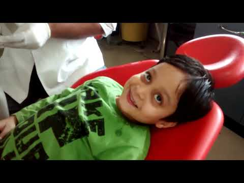 child dental root canal treatment, cleaning and filling must watch what an adorable child