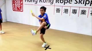 香港專業花式跳繩學校 - 跳繩教室(大繩花式﹕繩中繩交叉組合花式)