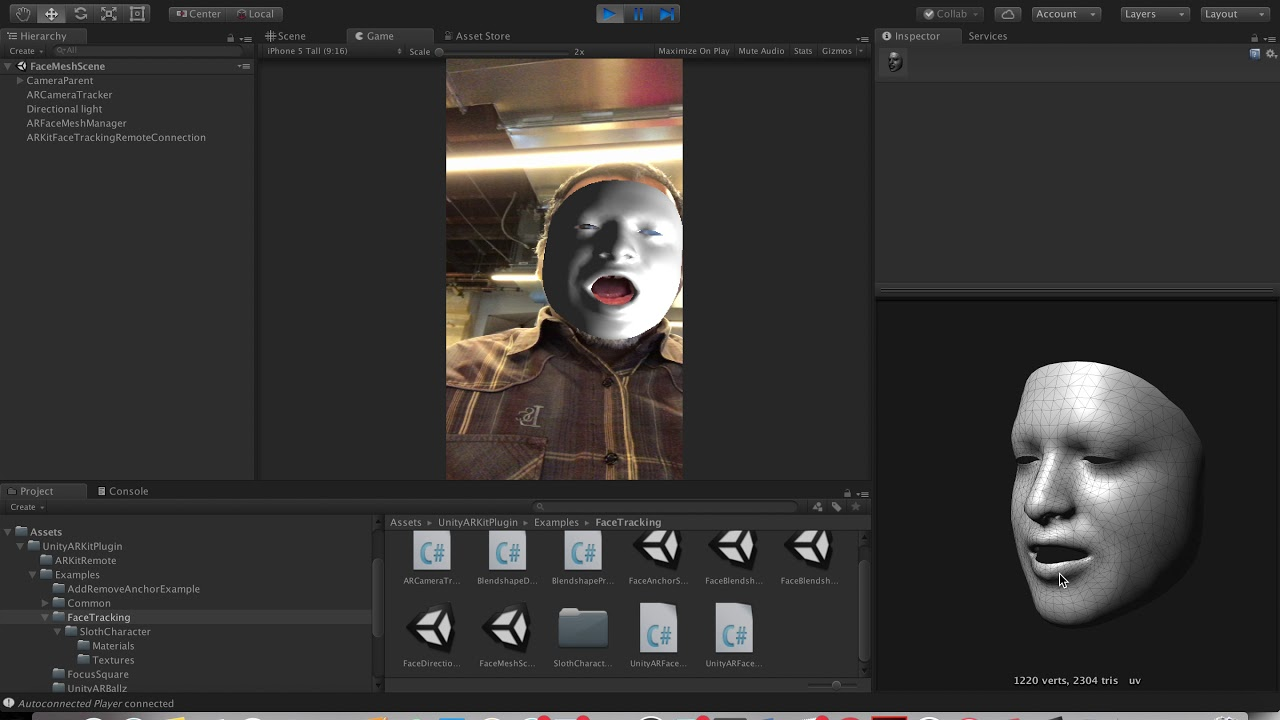 ARKit Remote: Now with face tracking! – Unity Blog