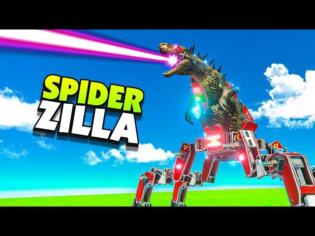 New SPIDER ZILLA Mech Unit - Animal Battle Revolt Simulator