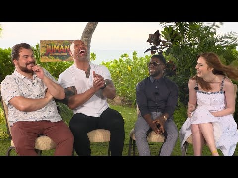 'Jumanji: Welcome to the Jungle' | Unscripted | Dwayne Johnson, Kevin Hart, Jack Black, Karen Gillan