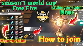 Season 1 World Cup Free Fire - How to join & Play and Get 30+ daimonds royal voucher, Dress || hindi