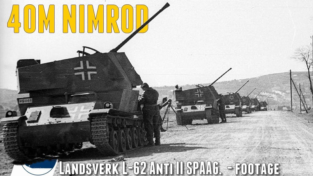 Download Rare WW2 40M Nimród -  Landsverk L-62 Anti II - footage.