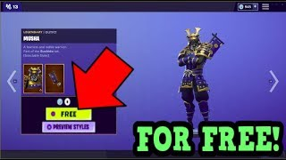HOW TO GET MUSHA SKIN FOR FREE! (Fortnite Old Skins)