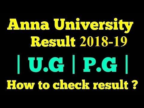 Anna University UG PG Exam Result 2018: Result Link From Aucoe.annauniv.edu Mp3