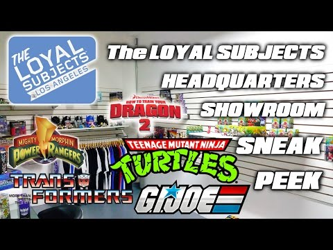 the LOYAL SUBJECTS headquarters showroom FULL LINE SNEAK PEEK & PREVIEW