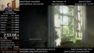 The Last of Us Speedrun World Record! (2:53:08) on Easy mode (Glitchless NG+)