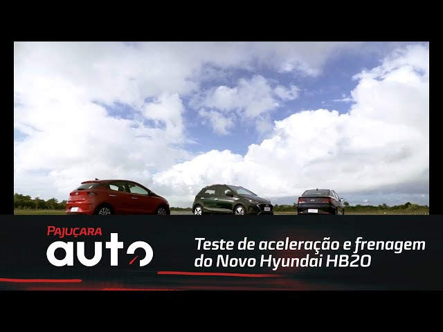 Teste de aceleração e frenagem do Novo Hyundai HB20