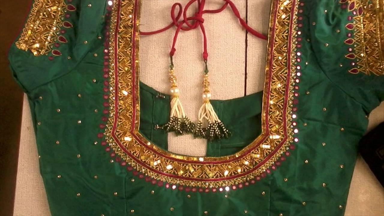 Top latest blouse designs with zardosi work for saree
