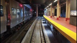 4K/60p: LIRR M3 Front Window Jamaica to Penn Station