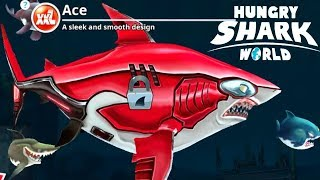 GREAT WHITE SHARK - New Ace Skin Fun Play - Hungry Shark World