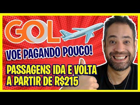 MEGA PROMO GOL! VOE PAGANDO POUCO! A PARTIR DE R$215 IDA E VOLTA PASSAGENS ÁEREAS