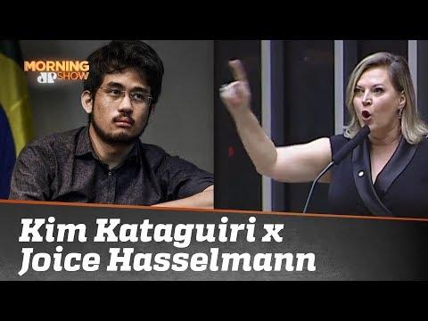 """Moleque"" X ""cara de pau"": a troca de ""afagos"" entre Kim Kataguiri e Joice Hasselmann"